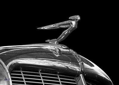"1936 Auburn 852 Supercharged Speedster mit Kühlerfigur ""Winged Man"" in Chrome pur"