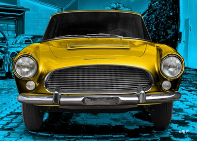 Auto Union 1000 SE millespecial in blue & yellow