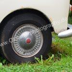 Goggomobil Coupé mit Original Radkappen und rotem Logo darauf