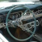 Ford Mustang 1 Interieur mit fabrgleichem Lenkrad wie Aussenlackierung