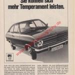 Opel Olympia A Werbung Advertising 1967-1968
