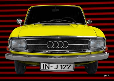 Audi F103 in yellow front view