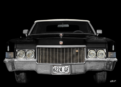 1970 Cadillac DeVille Convertible black & black