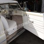 Buick Super Convertible alles in weißem Leder gehalten