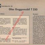Goggomobil T 250 Datenblatt - Sammelblatt 1965 Seite 2