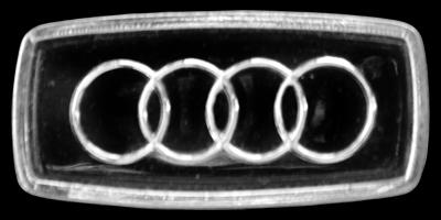 Logo Audi 100 C1 auf Hupe