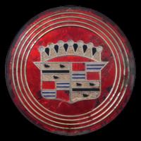 Logo Cadillac Eldorado Biarritz auf Radkappe von 1957
