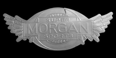 Logo Morgan Threewheeler Super Sports von 1934 auf Kühlergrill