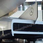 Mercedes-Benz C 111 Heckansicht mit Finne und Abluft-Kühlergrill