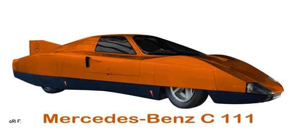 Mercedes-Benz C 111/III side view in orange