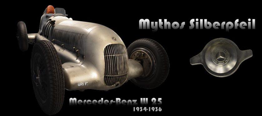 Mercedes-Benz W 25 Silberpfeil Poster