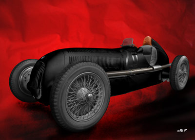 Mercedes-Benz W 25 Silberpfeil in black & red