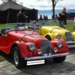 Morgan Plus 8 in rot Baujahr 1978 und gelb