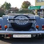 Morgan Plus 8 mit 2 Auspuffrohren rear view