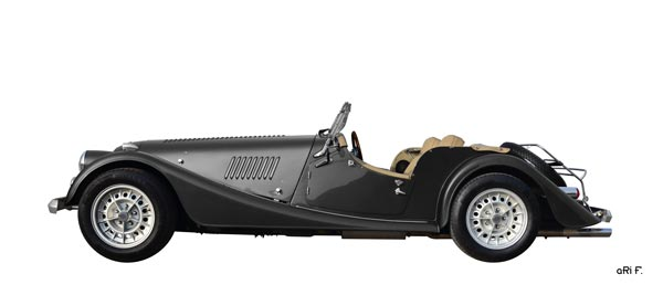 Morgan Plus 8 in side view