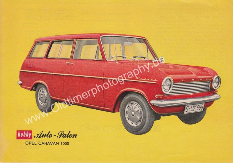 Opel Caravan 1000 Sammelblatt 01 aus Zeitung hobby von 1965