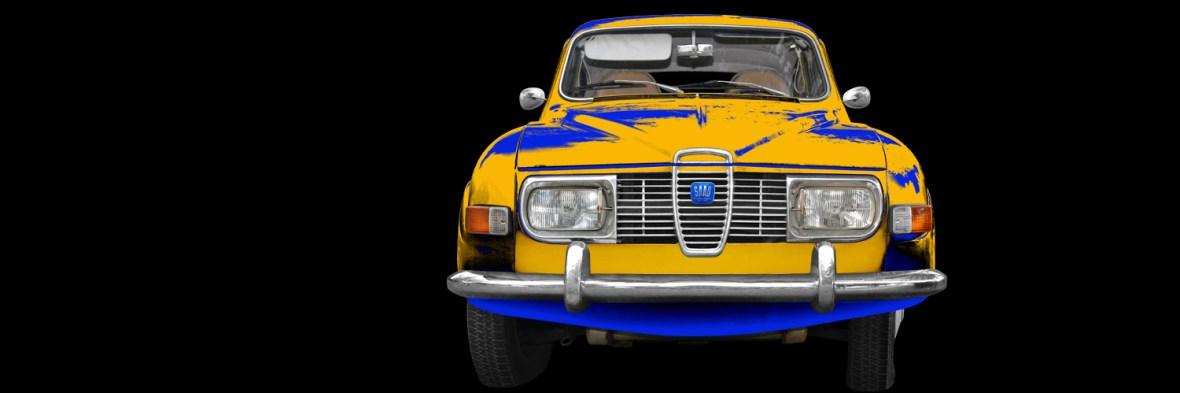 Saab 96 Poster in original swedish colors