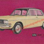 Audi F103 Limousine Sammelblatt aus Zeitung hobby von 1965 Seite 1