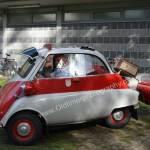 BMW Isetta mit Mini-Anhänger