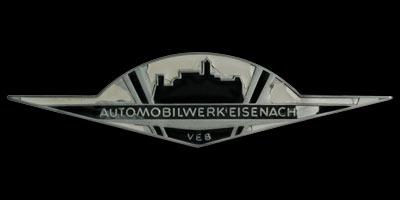 Logo Automobilwerk Eisenach auf Wartburg 353 Trabant