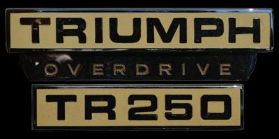 Logo Triumph TR250 1967-1968