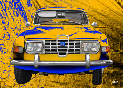 Saab 96 in original Sweden colors