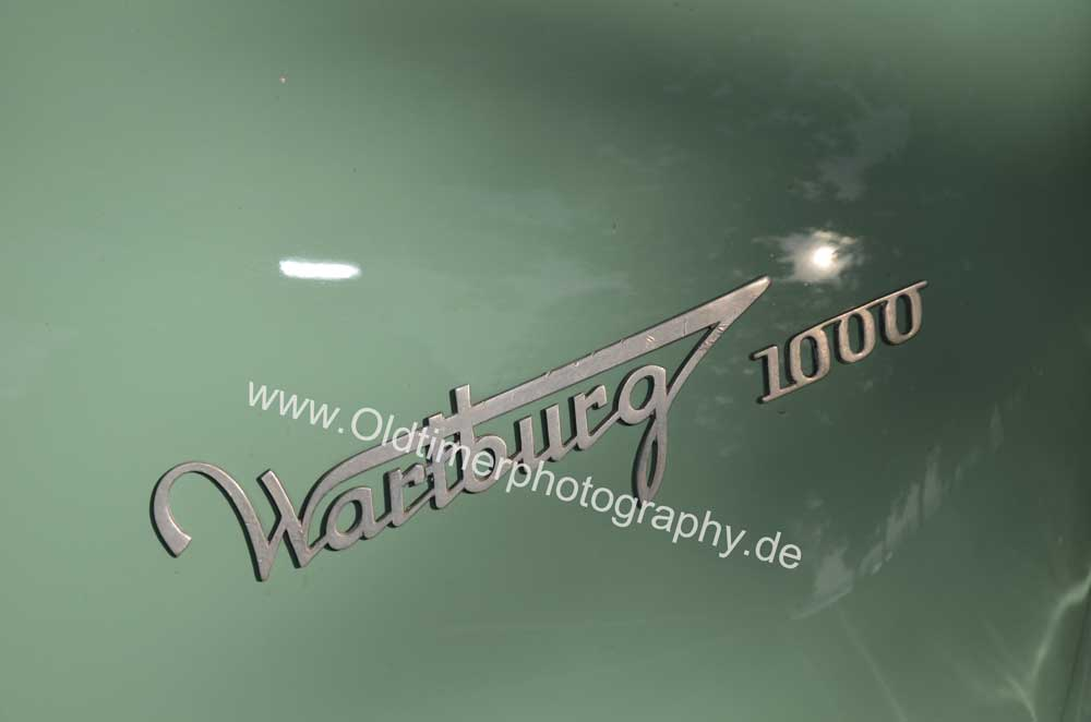 Wartburg 312 mit Schriftzug-Logo Wartburg 1000