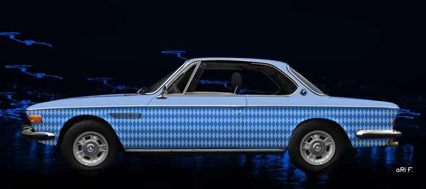 BMW 3.0 E9 in bavarian blue
