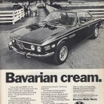 BMW E9 saved from autoadvert.tumblr.com