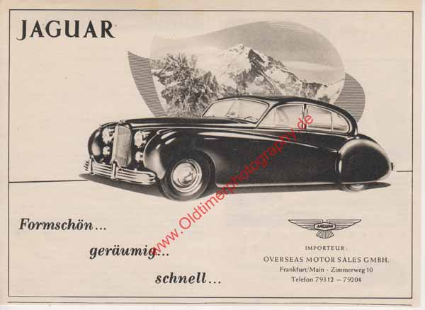 Jaguar Mark VII Advertising/Werbung in 50er Jahre