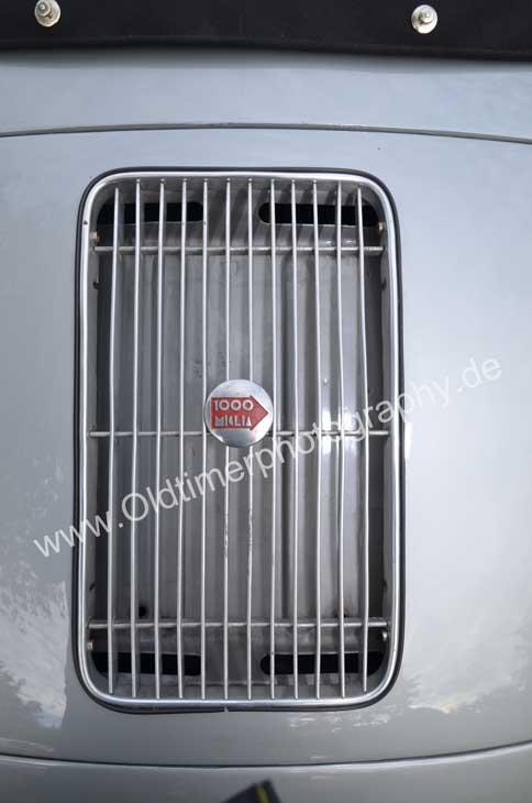 Mille Miglia1000-Plakette auf Porsche 356 A 1500 S die wirklich nur jemand bekam, der auch mitgefahren ist