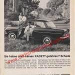 Opel Kadett A Werbung 60er Jahre in Zeitung hobby