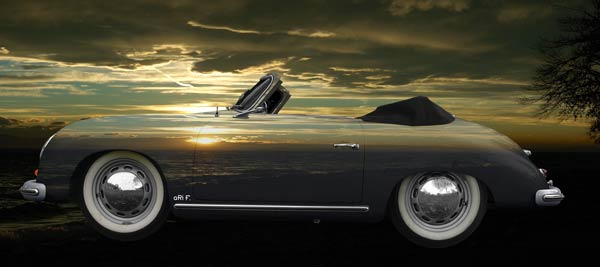 Porsche 356 A 1500 Super on sunset