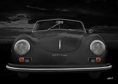 Porsche 356 A 1500 Super in black front view