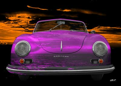 Porsche 356 A 1500 Super in orange sundown & pink