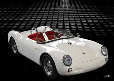 Porsche 550 Spyder in white original color