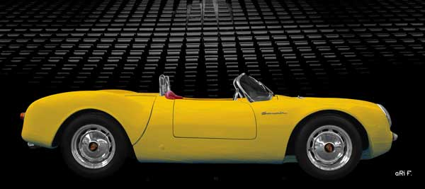 Porsche 550 Spyder Art Car in yellow experimental