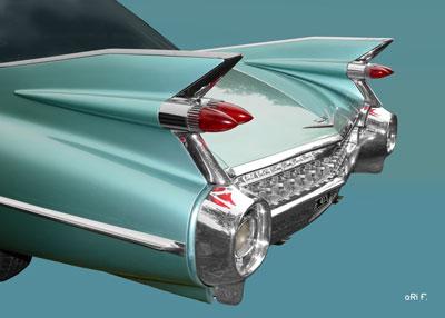 1959 Cadillac Serie 62 US-Klassiker in original color