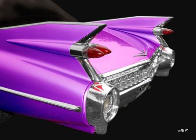 1959 Cadillac Serie 62 US-Klassiker in black & pink