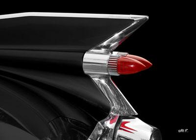 1959 Cadillac Serie 62 US-Klassiker in black & red tail lights