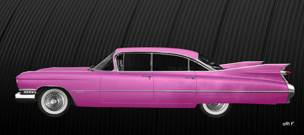 1959 Cadillac Serie 62 Poster in pink