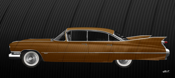 1959 Cadillac Serie 62 US-Klassiker in brown