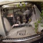 Opel Olympia Rekord Caravan Motorraum..