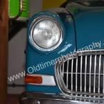 Opel Olympia Rekord Caravan Detailansicht auf Schweinwerfer und Blinker