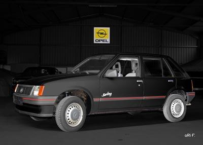 Opel Corsa A in black & black