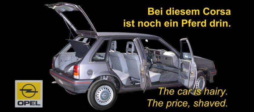 OPEL Corsa A / Vauxhall Nova 1982-1993