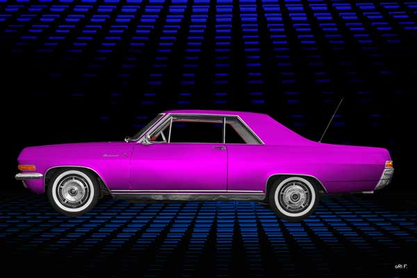 Opel Diplomat V8 Coupé in pink side view