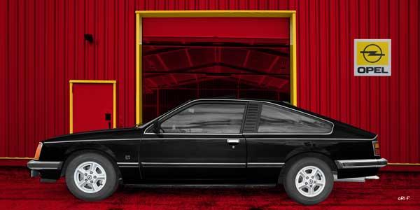 Opel Monza in black & red