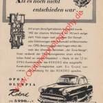 Opel Olympia Rekord Werbung von 1956