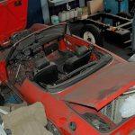Alfa Romeo Spider Werkstattfoto